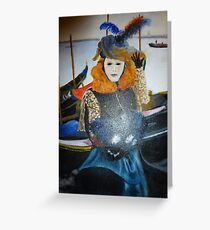 Venice Carnival Paint Greeting Card