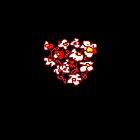 RED WHITE FLOWER  by Shoshonan