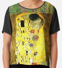 The Kiss by Gustav Klimt Chiffon Top
