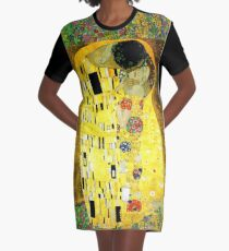 The Kiss by Gustav Klimt Graphic T-Shirt Dress