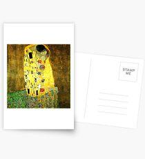 The Kiss by Gustav Klimt Postcards