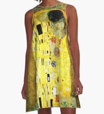 The Kiss by Gustav Klimt A-Line Dress