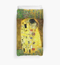 The Kiss by Gustav Klimt Duvet Cover