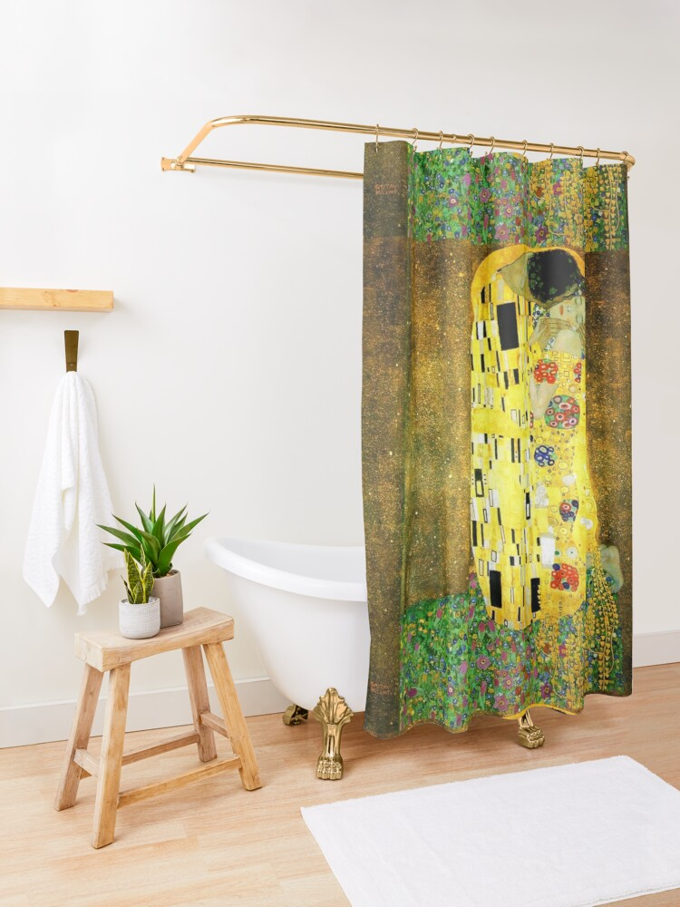 Alternate view of The Kiss by Gustav Klimt Shower Curtain