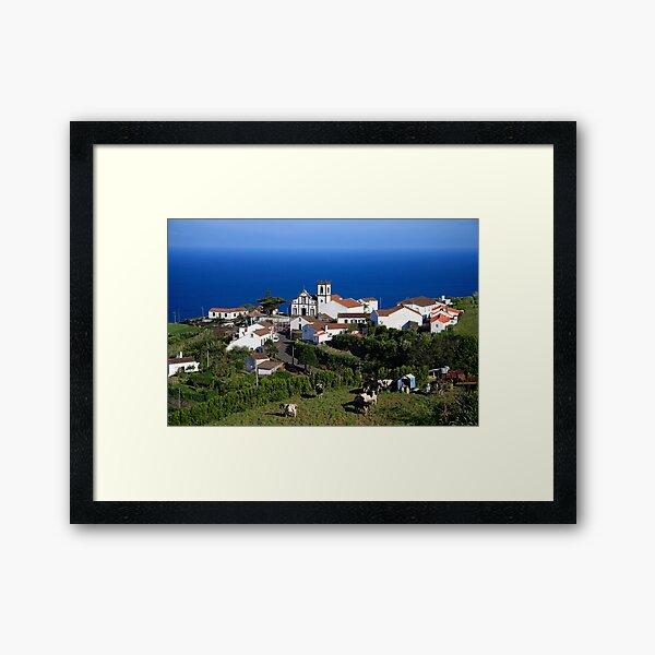 Parish in the Azores islands Framed Art Print
