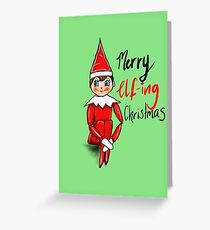 Merry Elf-ing Christmas Greeting Card