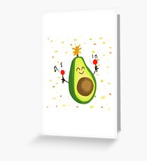 The Festive Avocado Greeting Card