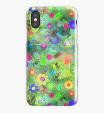 Shabby Chic Watercolour Garden Nature Painting iPhone Case/Skin