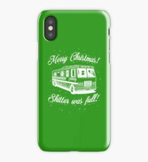 National Lampoons Christmas  - Shitter Was Full (Green) iPhone Case