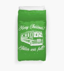 National Lampoons Christmas  - Shitter Was Full (Green) Duvet Cover