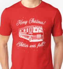 National Lampoons Christmas  - Shitter Was Full (Red) Unisex T-Shirt