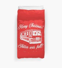 National Lampoons Christmas  - Shitter Was Full (Red) Duvet Cover
