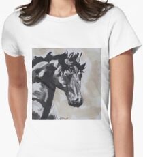Horse Portrait in Bold Women's Fitted T-Shirt