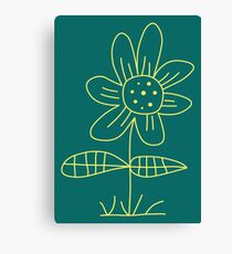 Friendly flower Canvas Print