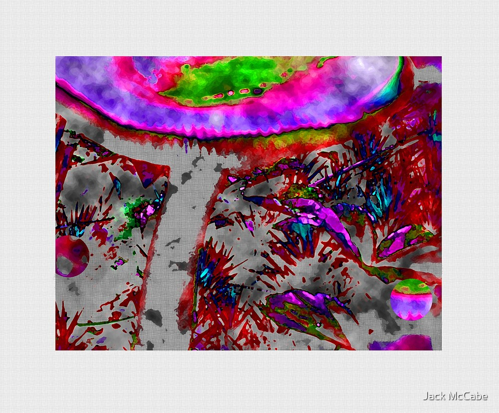 Mushroom Abstract [center] 08  by Jack McCabe