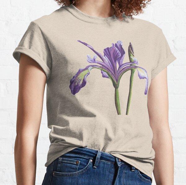 Purple Iris flower in watercolor Classic T-Shirt