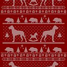 Ugly Christmas sweater dog edition - Great dane red by Camilla Mikaela Häggblom