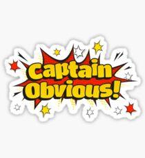 Pop Art Captain Obvious Sticker