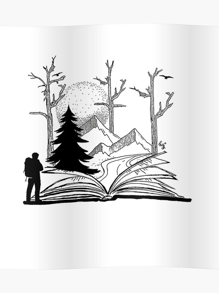 Adventure Stories - Open Book | Poster