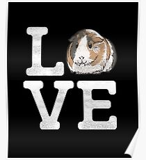 Love Guinea Pigs - Cute Guinea Pig Pet Lover Poster