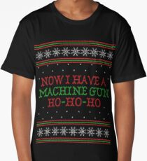 Die Hard Now I Have A Machine Gun Ugly Christmas Sweater Long T-Shirt