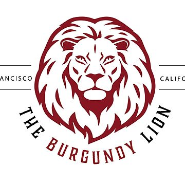 The Burgundy Lion Logo by PerryPalomino