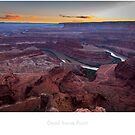 Dead Horse Point at Sunset by Jacinthe Brault