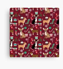 Chihuahua christmas presents dog breed stockings candy canes mittens  Canvas Print
