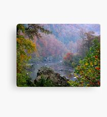 Rainy Days On The Mulberry River Canvas Print