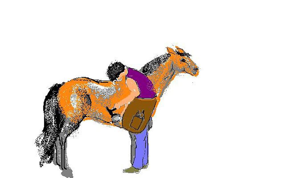 Shoeing Fat Pony by Carole Boyd