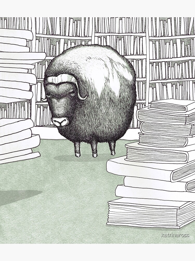 Ox in a Library by katrinaross