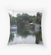 Yankee Town Coast Guard Station Throw Pillow