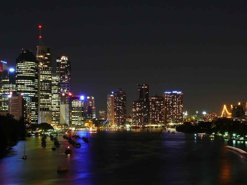 Brisbane By Night by Keith G. Hawley