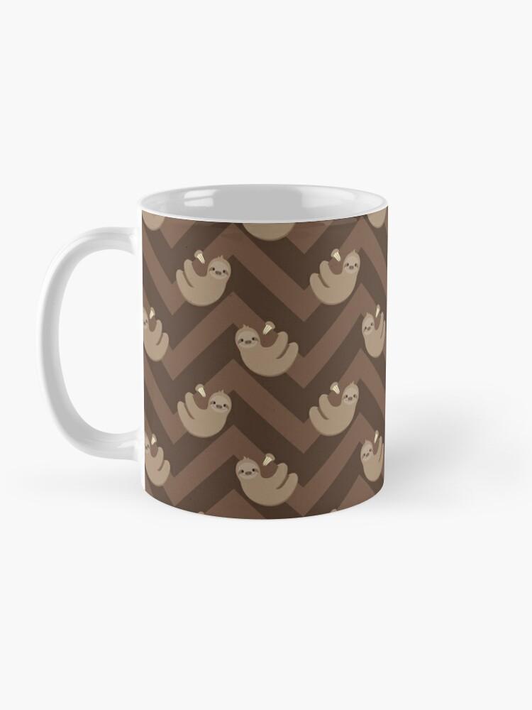 Alternate view of Sloths and chevrons Mug