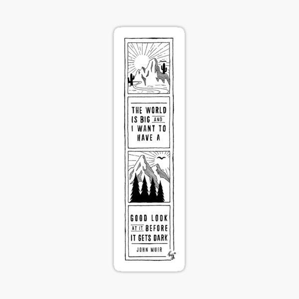 John Muir Quote Polaroid Sticker