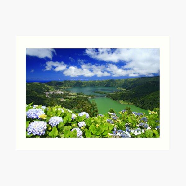 Sete Cidades crater, Azores Art Print