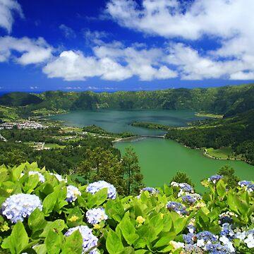 Sete Cidades crater, Azores by gavila
