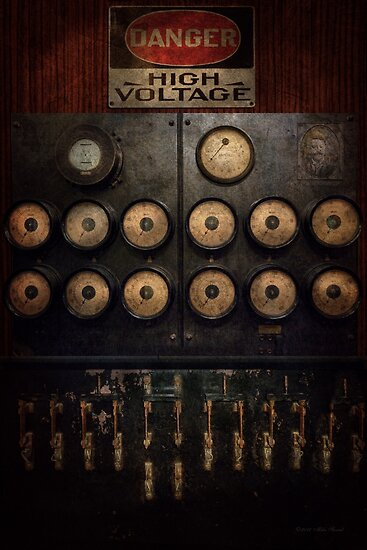 Steampunk - Electrical - Center of power by Michael Savad