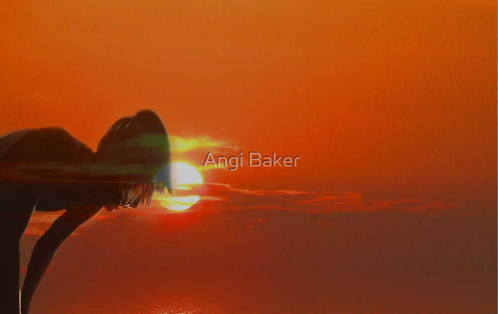 Runner At Sunset Two by Angi Baker