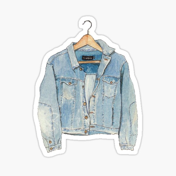 jean jacket Sticker