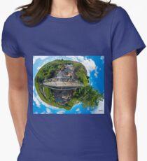 Footbridge over Glen River, Carrick, SW Donegal Women's Fitted T-Shirt