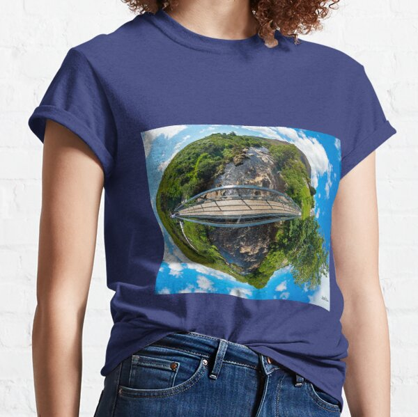 Footbridge over Glen River, Carrick, SW Donegal Classic T-Shirt