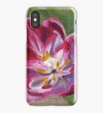 Pink Tulip Oil Painting by Angela Brown Art iPhone Case/Skin