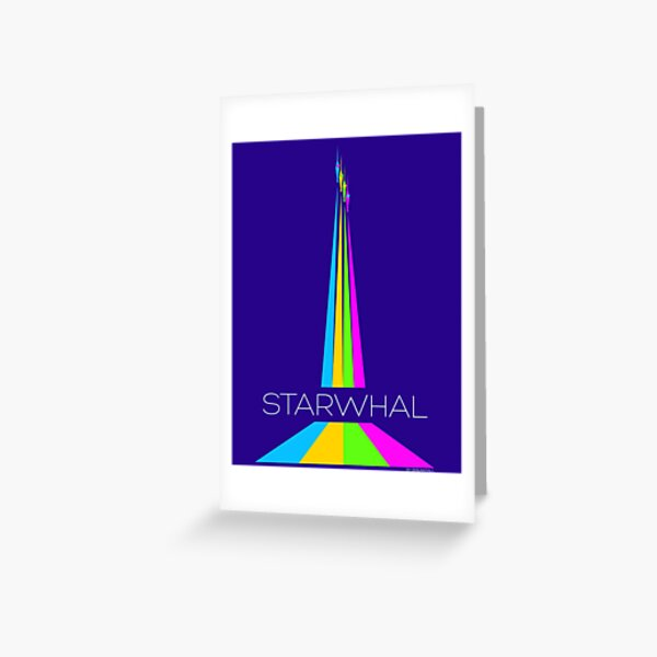 STARWHAL by Breakfall - Flying starwhals poster Greeting Card