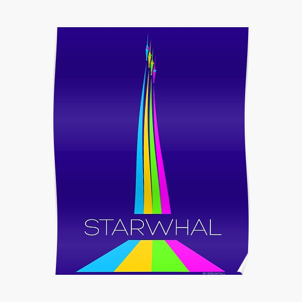 STARWHAL by Breakfall - Flying starwhals poster Poster