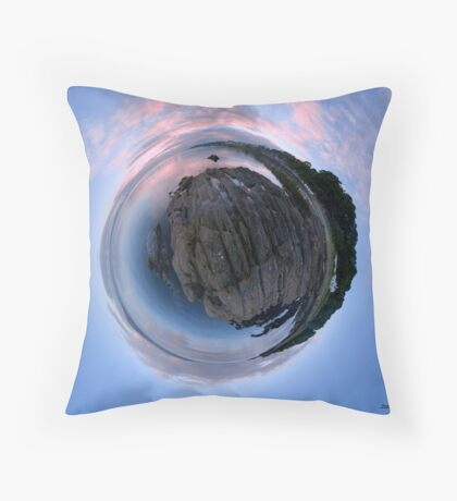 Moville Shoreline, Lough Foyle, at Dusk, Donegal Throw Pillow