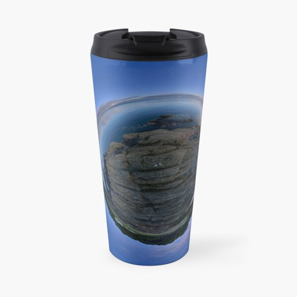Moville Shoreline, Lough Foyle, at Dusk, Donegal Travel Mug