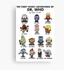 Timey Wimey MR DR Canvas Print