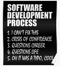 Software Development Process Programmer Joke  Poster