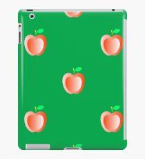 Red Fresh Apple Seamless Pattern on Green Background iPad Case/Skin